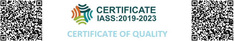Certificate of quality IASS 2020: 2022